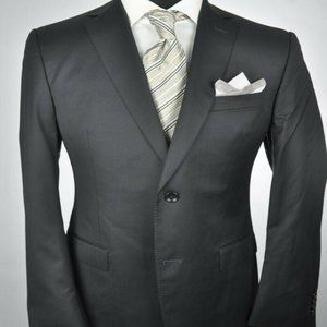 *Recent* Z ZEGNA Dark Gray Modern 2Btn Suit